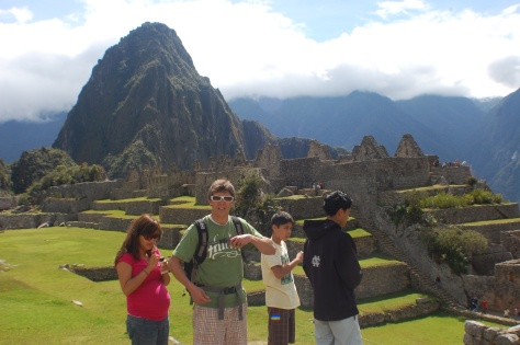 Brenda, Lorin and fam at Machu Picchu