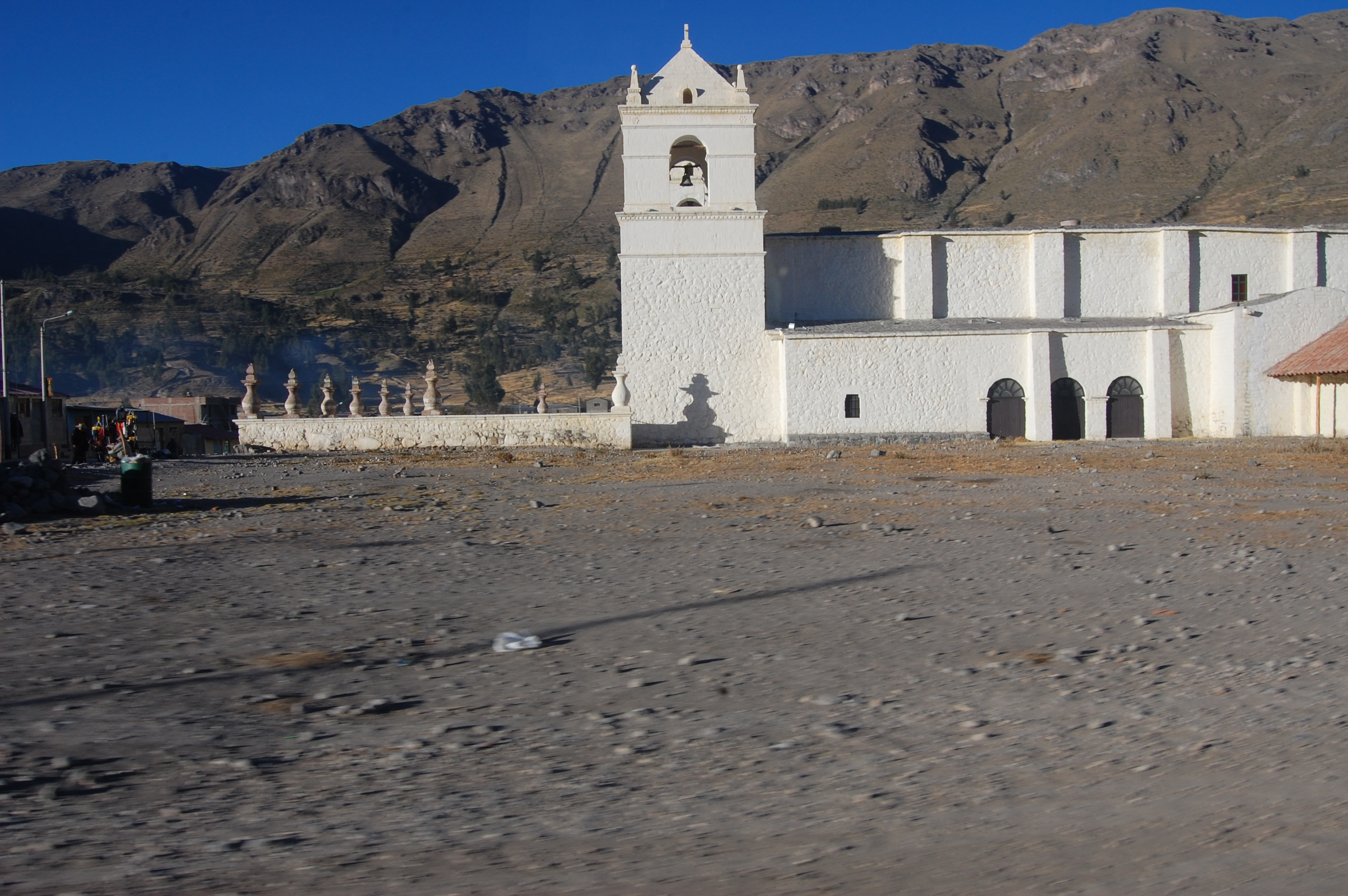 Beautiful church outside of Chivay