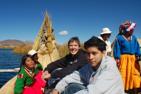 Leon and I headed to Los uros