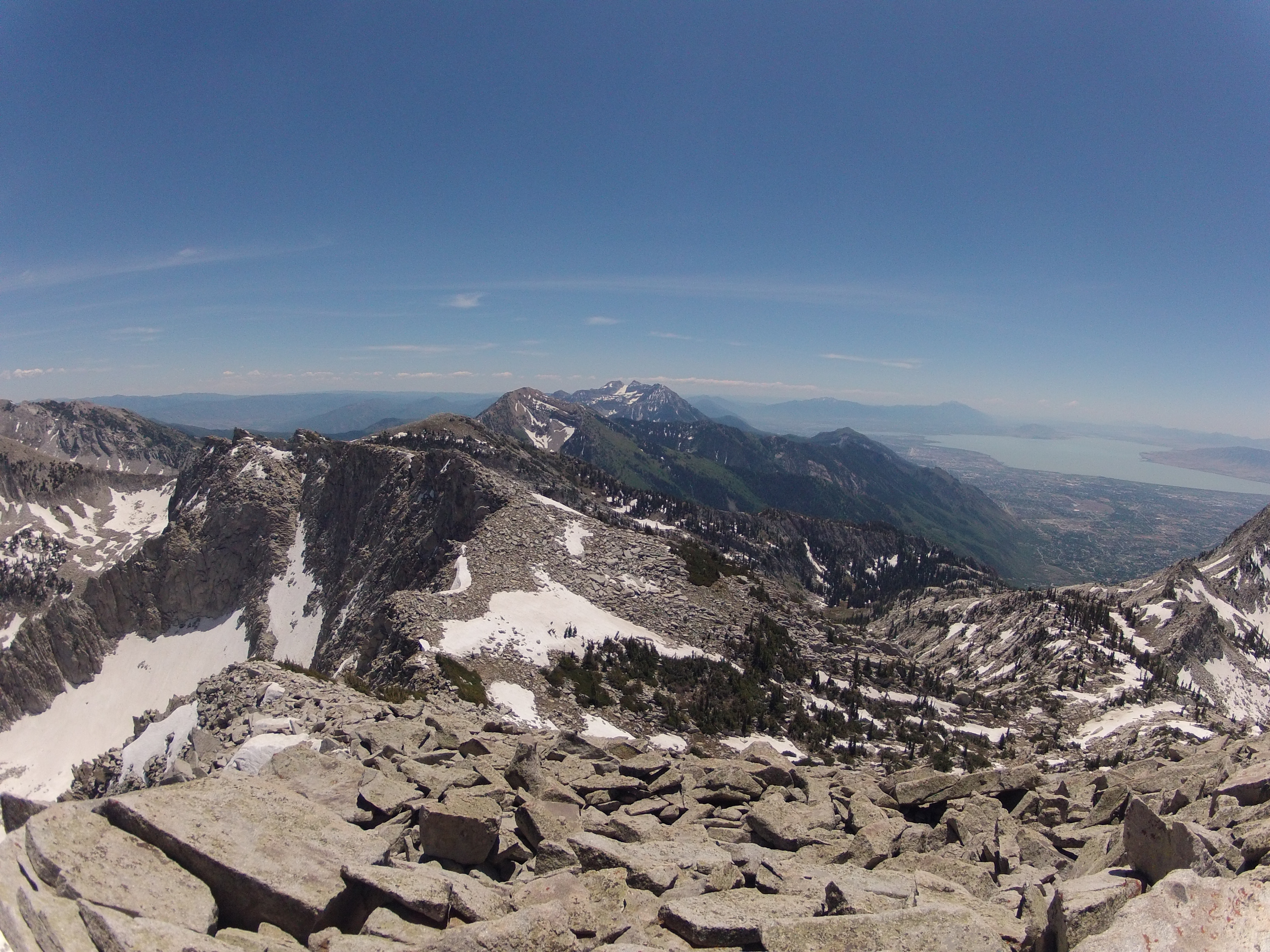 Great view of Wasatch looking south towards Timp