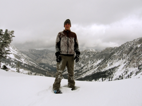 Jeremii, looking down into Big Cottonwood
